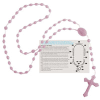 Rosary Beads - English Version - Pink