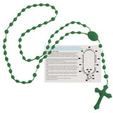 Rosary Beads - English Version - Green