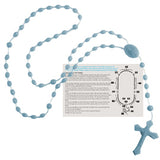 Rosary Beads - Spanish Version - Light Blue
