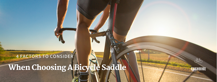 4 Factors To Consider When Choosing A Bicycle Saddle