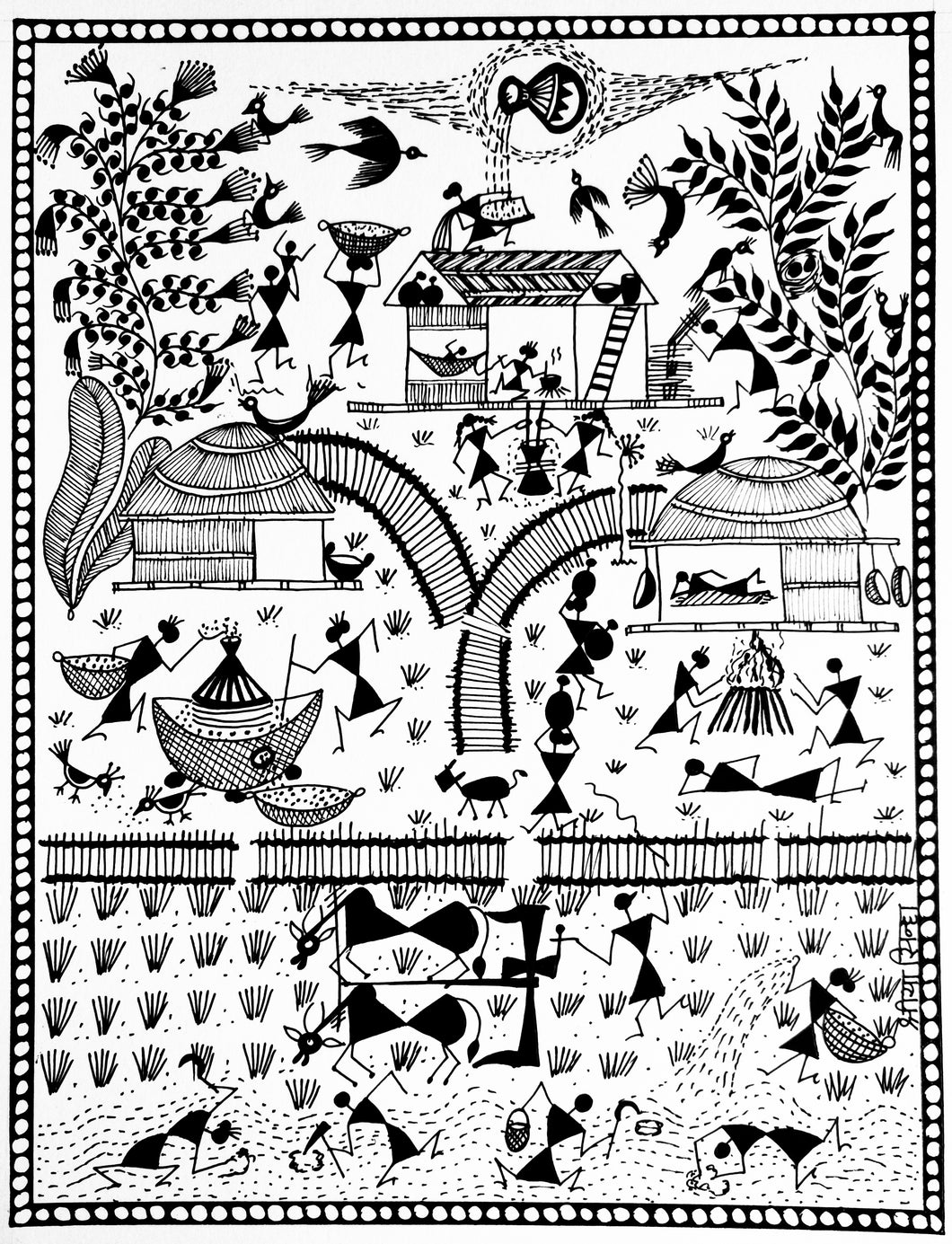 May 9th - Warli (Indian Folk Art) Workshop by Shriya Sinha