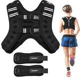 PACEARTH Weighted Vest with Ankle/Wrist Weights 6lbs/12lbs