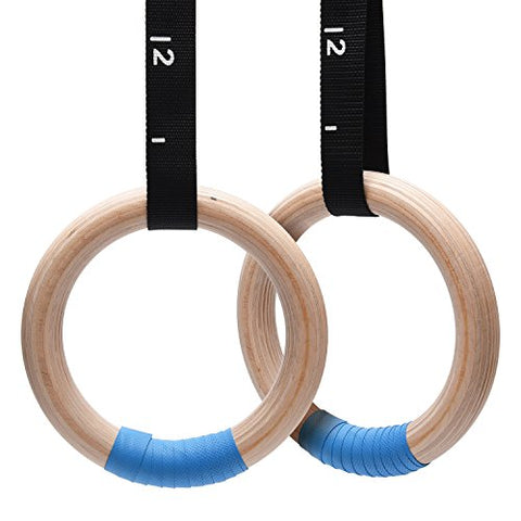 PACEARTH Wooden Gymnastics Rings (32mm)