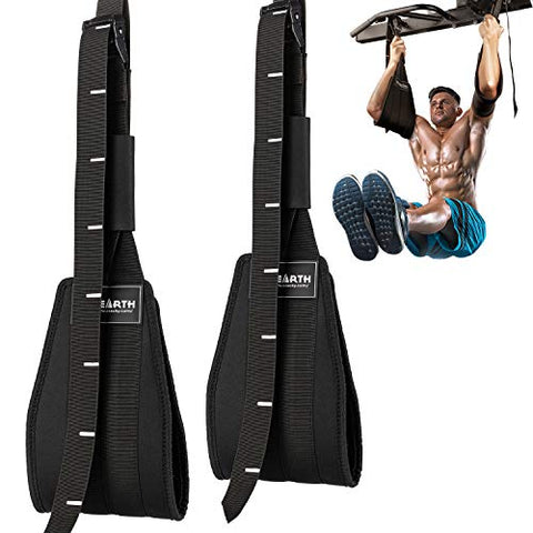 PACEARTH Adjustable Ab Straps with Scale