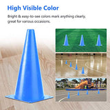 PACEARTH 11 Inch Plastic Traffic Cones 10 Pack Agility Cones