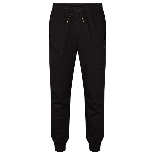 Men`s Cotton fleece cargo pants Black