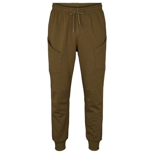 Men`s Cotton fleece cargo pants Green