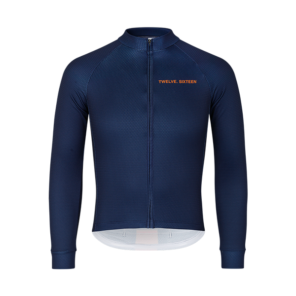 Long Sleeve Jersey Elite Navy-Orange