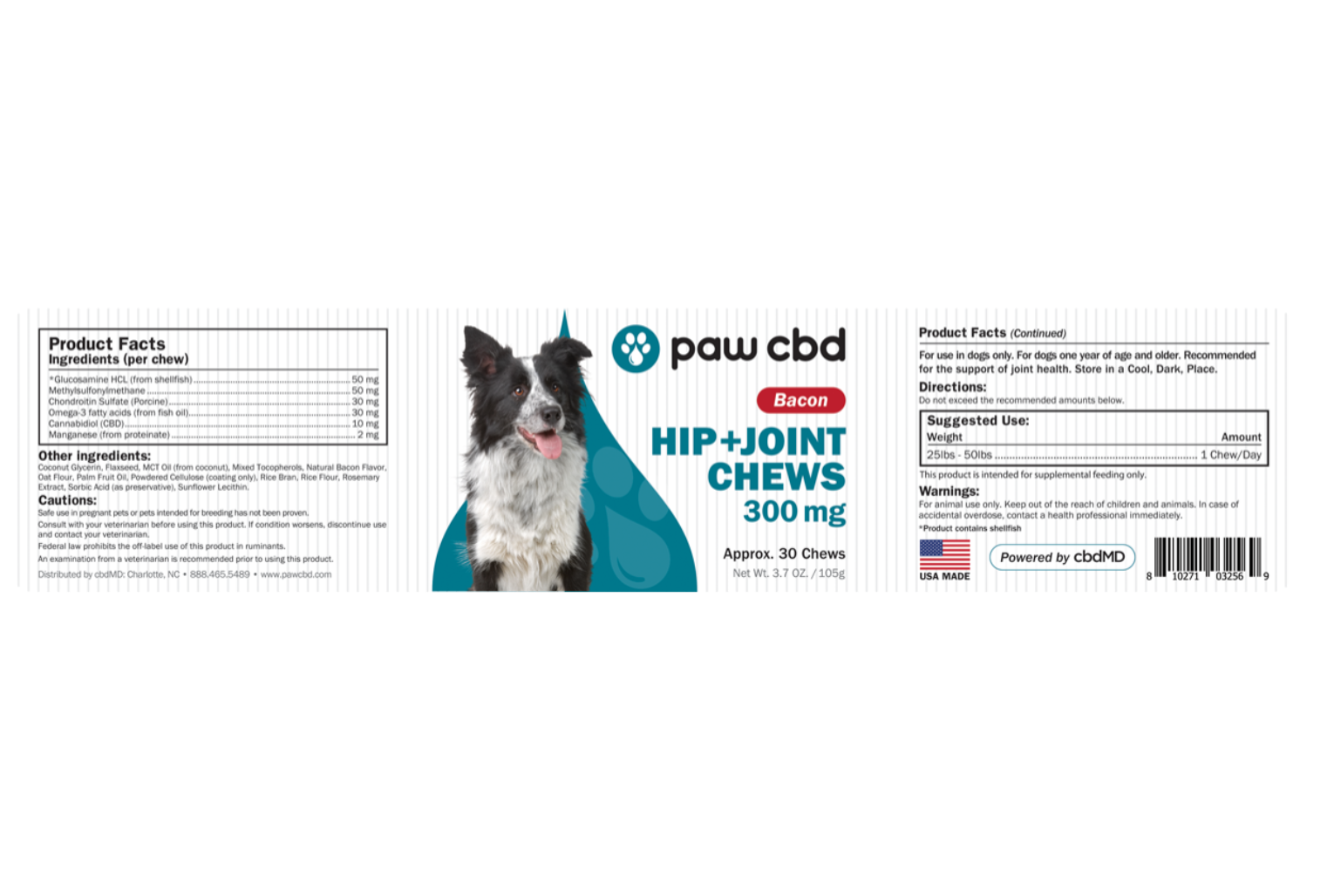 CBD Dog Soft Chews Hip and Joint 300mg Hong Kong