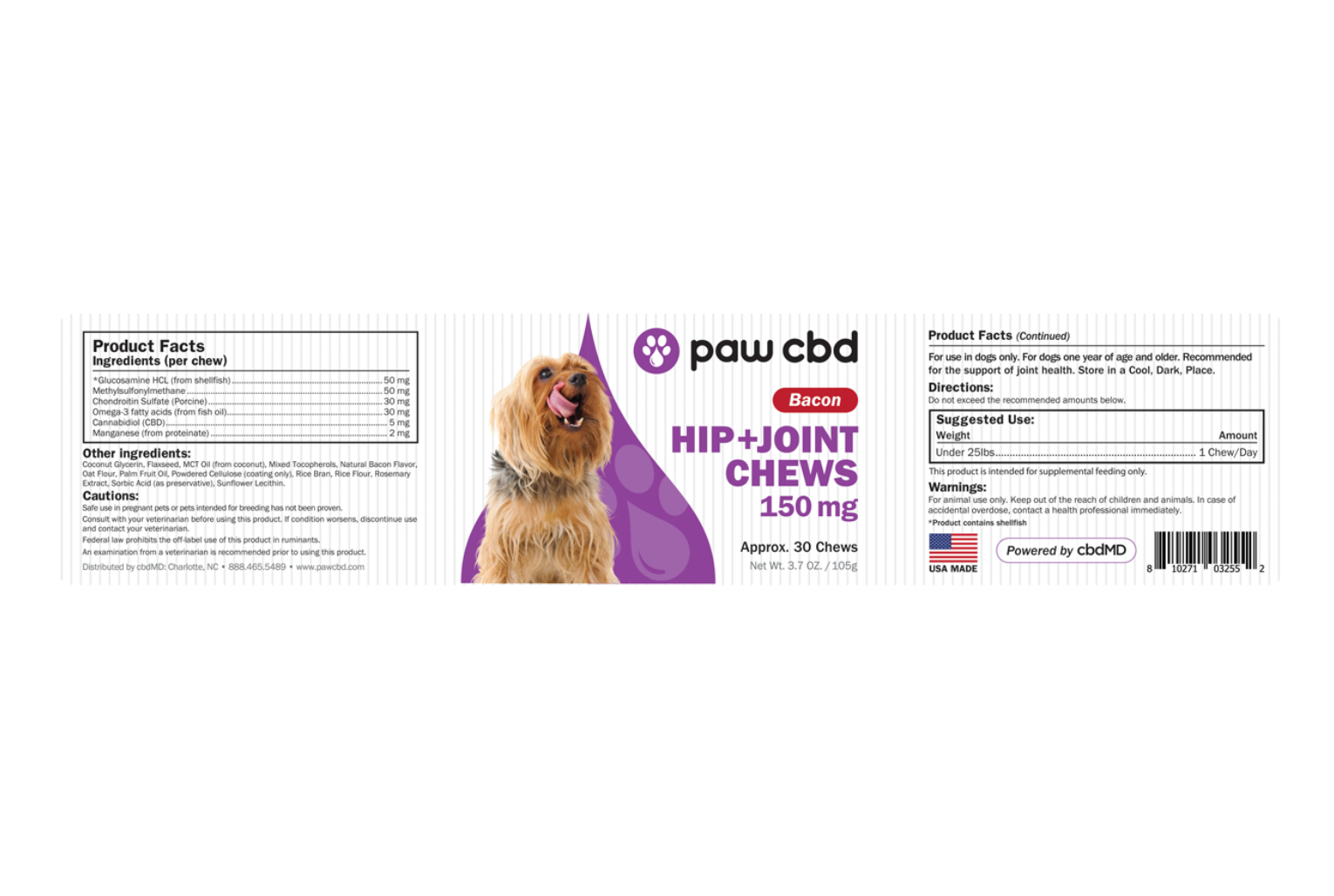 CBD Dog Soft Chews Hip and Joint 150mg Hong Kong