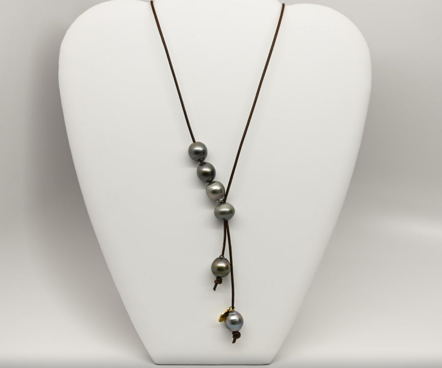 3 way necklace : Adjustable Tahitian pearl necklace