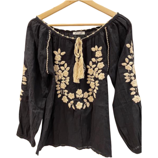 PL - LILLY TOP (BLACK/ BEIGE)