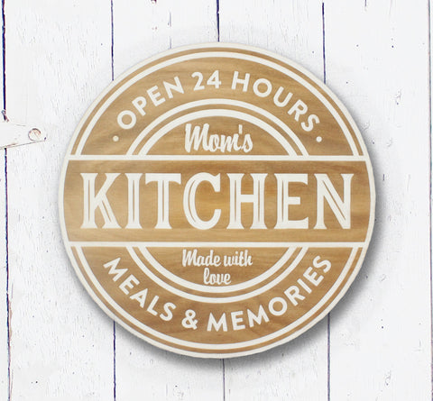 Moms Kitchen |  | Handmade, Hand-painted, wood sign, custom quote signs