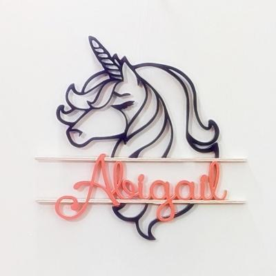 "20"" Personalized ""Unicorn Name Sign"" - Papa's Cottage Home Goods & Decor"