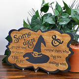"""Put on the Hat"" Decorative Halloween Sign - Papa's Cottage Home Goods & Decor"