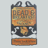 """Sleepy Hollow Dead and Breakfast"" Halloween Decorative NAME Sign - Papa's Cottage Home Goods & Decor"