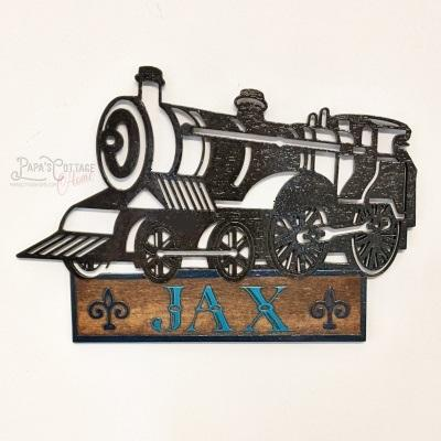 "15"" Personalized ""Train Name Sign"" - Papa's Cottage Home Goods & Decor"