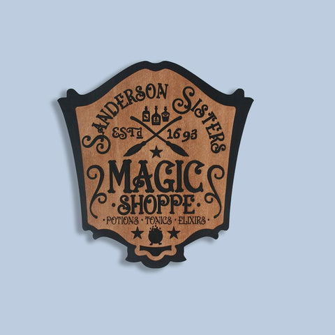 """Halloween Magic Shoppe Plaque""  Decorative Sign - Papa's Cottage Home Goods & Decor"