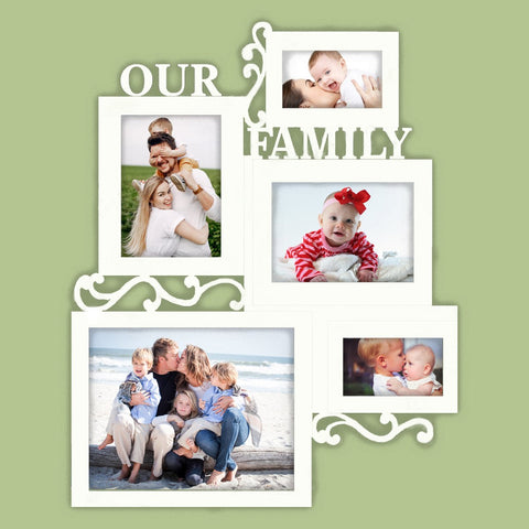 Personalized Our Family Collage Picture Frame - Papa's Cottage Home Goods & Decor