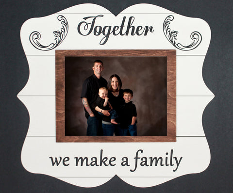 Together We Make a Family, Rustic, Photo Frame - Papa's Cottage Home Goods & Decor