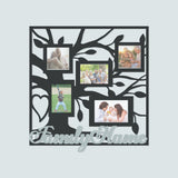 Family Tree with Heart Collage With Personalized Name Banner - Papa's Cottage Home Goods & Decor