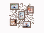 "Ivy Leaf Modern Photo Collage | 18""x18"" photo collage frame 4""x4"" and 3.5""x5"" openings"