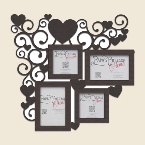 Heart Flourish Valentine's Day | Personalized photo frame, Family photo collage, Photo collage frame, Picture frame collage, Custom collage