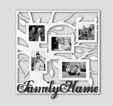 "Family Tree With Heart Collage | 19""X19"" Personalized picture frame"