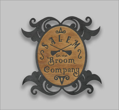 Halloween Salem Broom Company Custom Decorative Sign - Papa's Cottage Home Goods & Decor