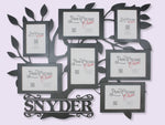 "Family Tree Collage Name Sign | 24""X19"" 