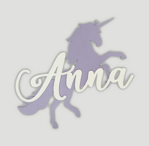 Dancing Unicorn Name Sign - Papa's Cottage Home Goods & Decor