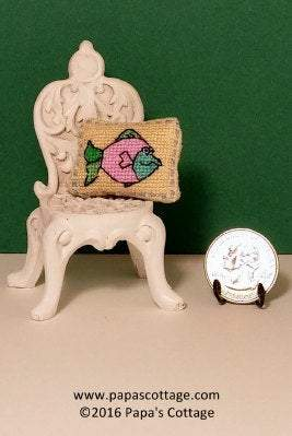 OOAK Dollhouse Pillow - Hand made 1:12 - Papa's Cottage Home Goods & Decor