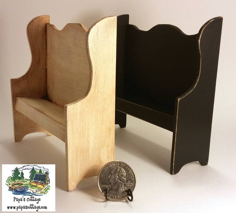 Primitive Bench 1:12 - Papa's Cottage Home Goods & Decor