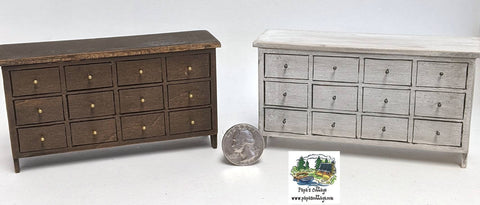 IKEA style Dresser with faux drawers 1:12 - Papa's Cottage Home Goods & Decor