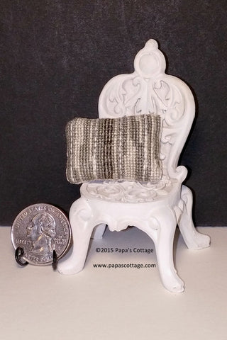 OOAK Dollhouse Pillow - Hand stitched for 1:12 - Papa's Cottage Home Goods & Decor