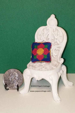 Dollhouse Pillow -  Hand made for 1:12 - Papa's Cottage Home Goods & Decor