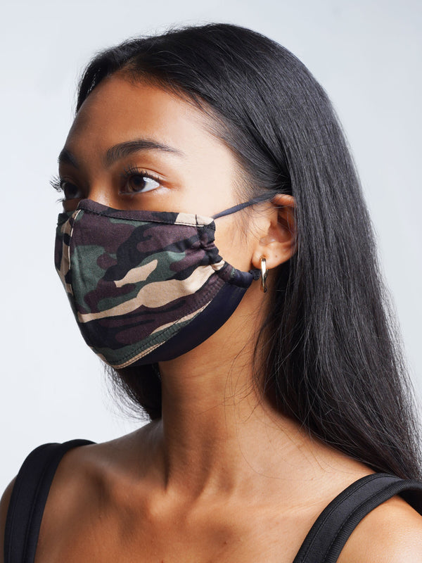 3 Pack - Camo Edition - Adjustable, reusable, breathable, cotton everyday face covering