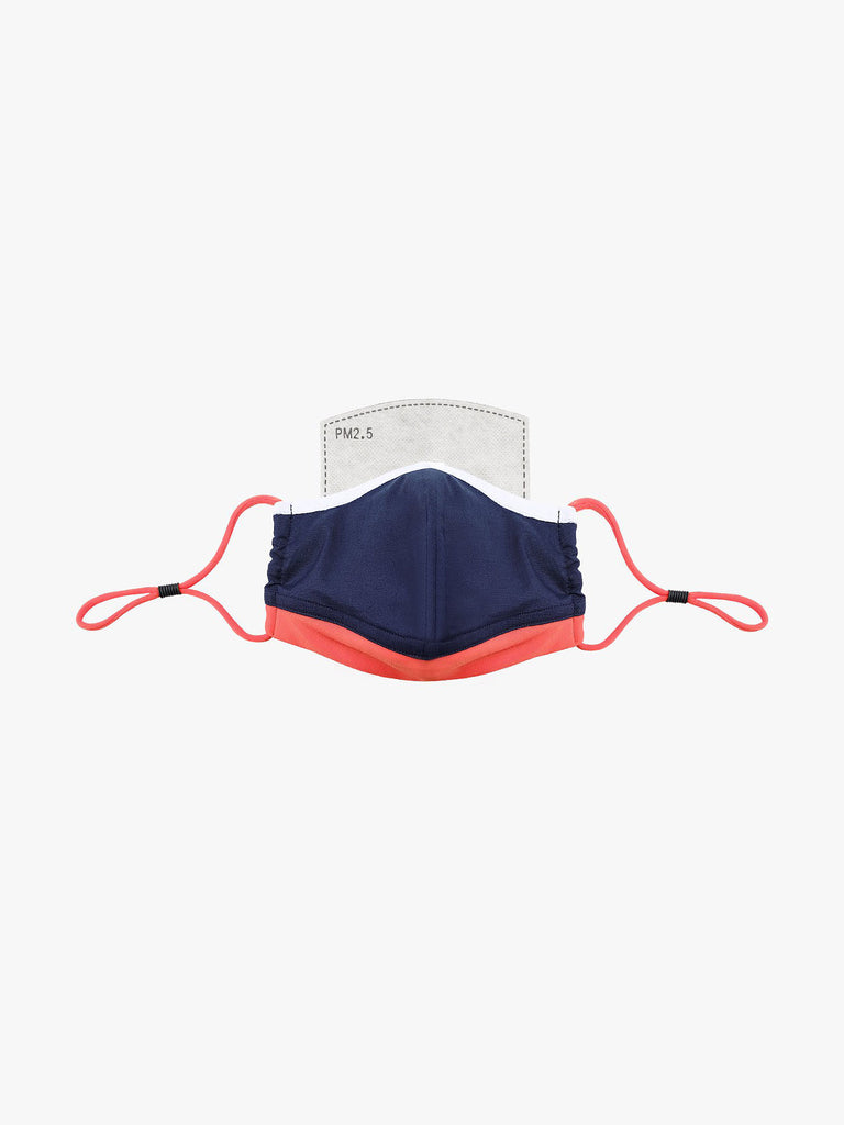 White | Navy | Tangerine (kids) - Adjustable, reusable, breathable, cotton everyday face covering