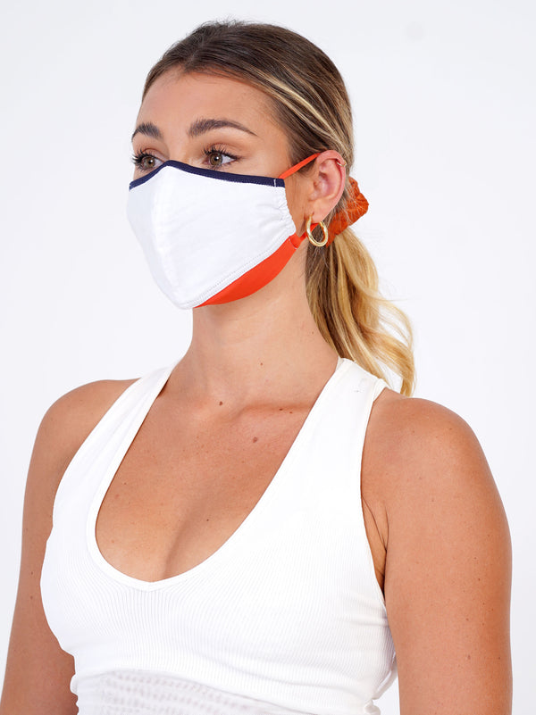 3 Pack - Tangerine Edition - Adjustable, reusable, breathable, cotton everyday face covering