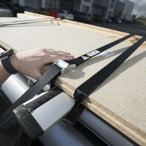 PRO STRAPS - 10ft / 3M Nylon, Steel Buckle Utility Straps being used on roof racks