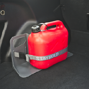 Stayhold Utility Strap XL packs x 2 holding petrol can