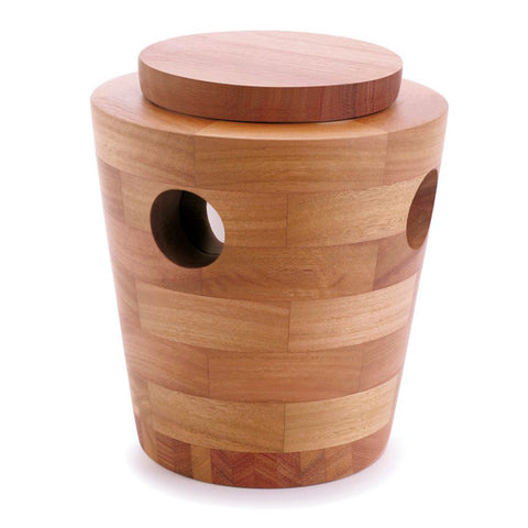 Wooden Ice Bucket with Tong and Lid 1024
