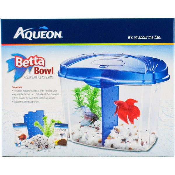 Aqueon Betta Bowl Starter Kit - Blue