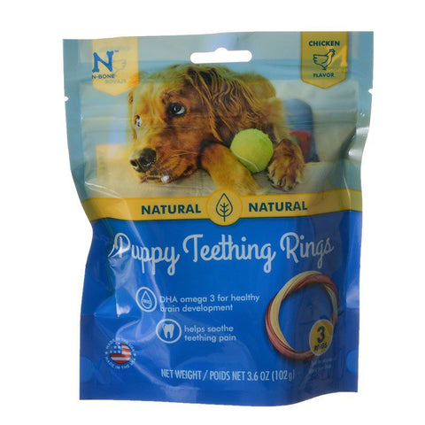 N-Bone Puppy Teething Ring - Chicken Flavor