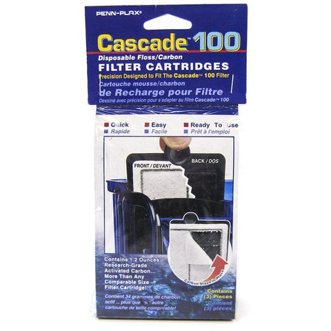 Cascade 100 Disposable Floss & Carbon Power Filter Cartridges