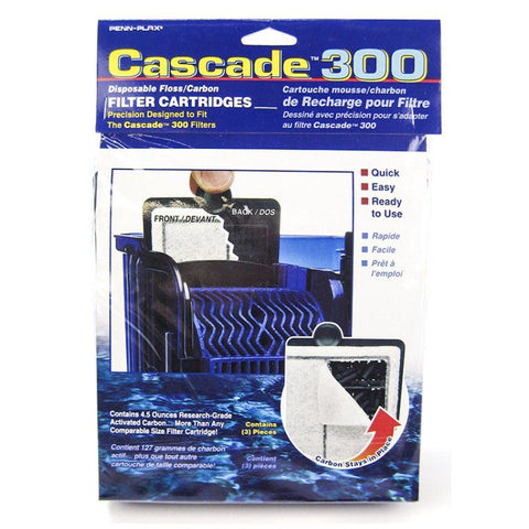 Cascade 300 Disposable Floss & Carbon Power Filter Cartridges