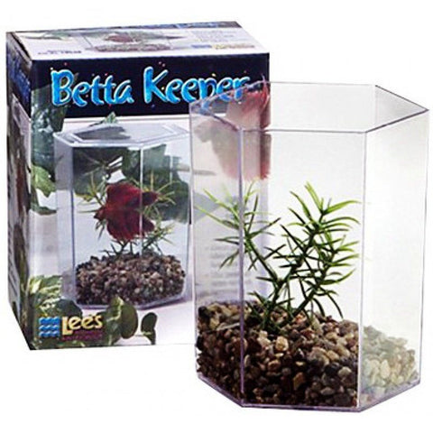 Lees Betta Keeper Hex Aquarium Kit