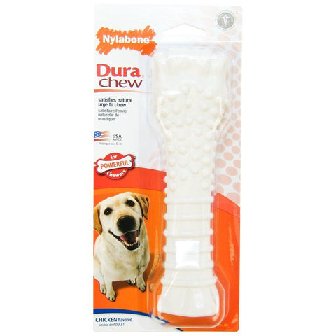 Nylabone Dura Chew Smooth White Dog Bone - Chicken Flavor