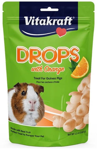 Vitakraft Drops with Orange for Pet Guinea Pigs