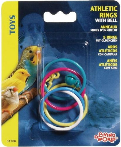 Living World Athletic Rings with Bell Bird Toy